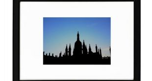 Cambridge, King's College Silhouette, University, Fine Art Print, BW photography, England, gothic architecture, sunset, UK, Castle, College