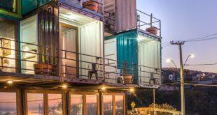 Hotel WineBox (Valparaiso, Chile) An der Küste von Valparaiso, Chile, liegt das W ...
