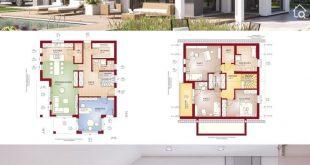 Klassisches Haus Design mit Satteldach, Erker & Balkon, 5 Zimmer Grundriss offen...