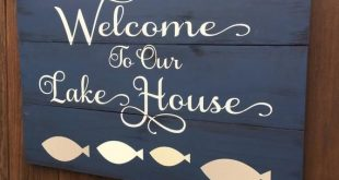 Lake sign, lake welcome sign, lake sign, rustic lake sign, lake house sign, lake house decor, lake house gift, welcome sign, lake wall art