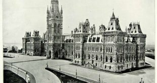 1894 Print Parliament Building Ottawa Canada Italian Gothic Architecture AC1