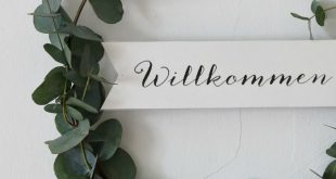 {DIY} Ein einfacher DIY-Eukalyptus-Kranz für die Haustüre (inklusive Printable