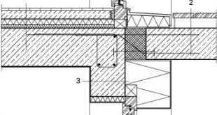 Detail Balkonanschluss, M 1 : 20