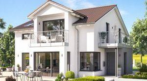 Hier finden Sie ihr Einfamilienhaus Fantastic 165 V4 Fertighaus mit Satteldach, ...