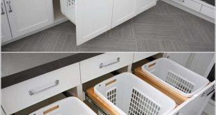 Korb Schubladen in Waschküche