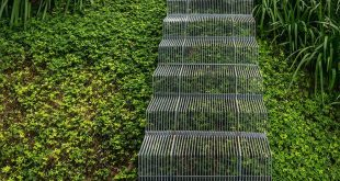 Landscape Design Idea - install low impact stairs for when you don't want to...
