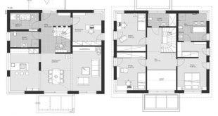 """Neue moderne zeitgenössische europäische Stile Architektur Design House Pläne """"ELK H"""