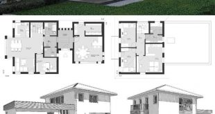 Small Villa Modern Contemporary European Style Architecture Design House Plans E...