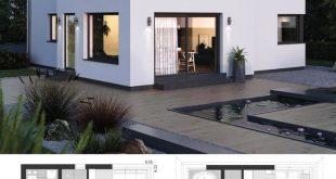 Small Villa Modern Minimalist Style Architecture Design House Plans ELK Haus 145...